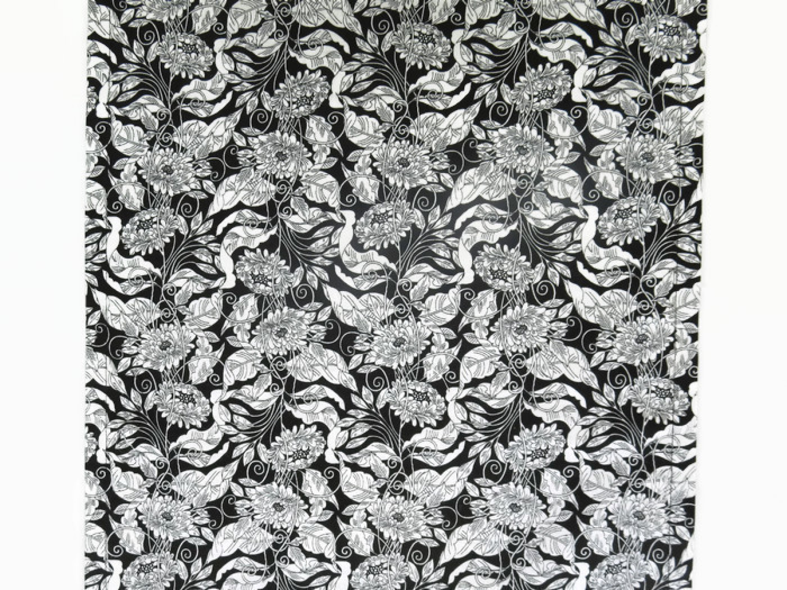 Black U0026 White Floral Table Runner Top View