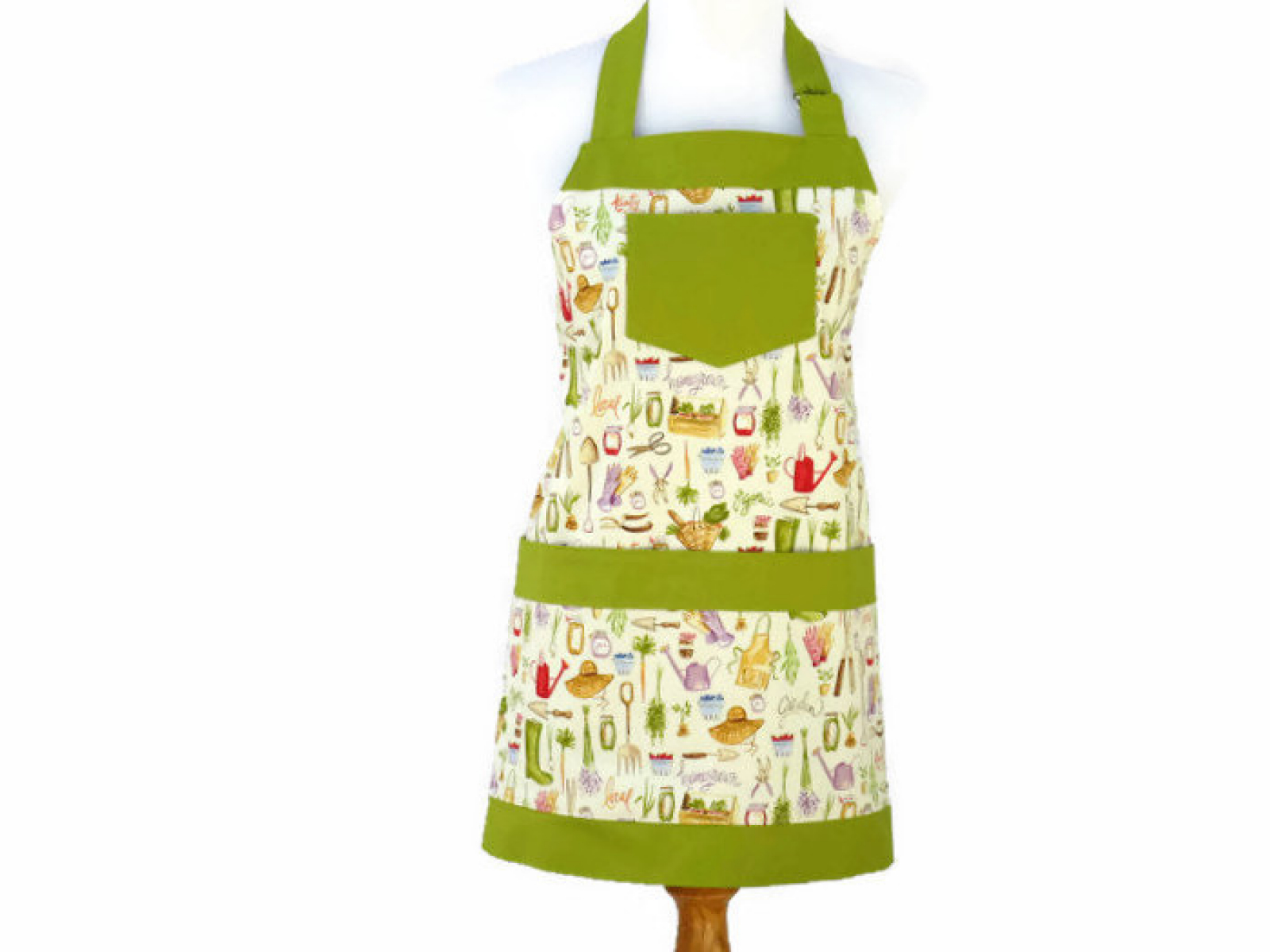 Gardening Themed Apron With Large Pockets