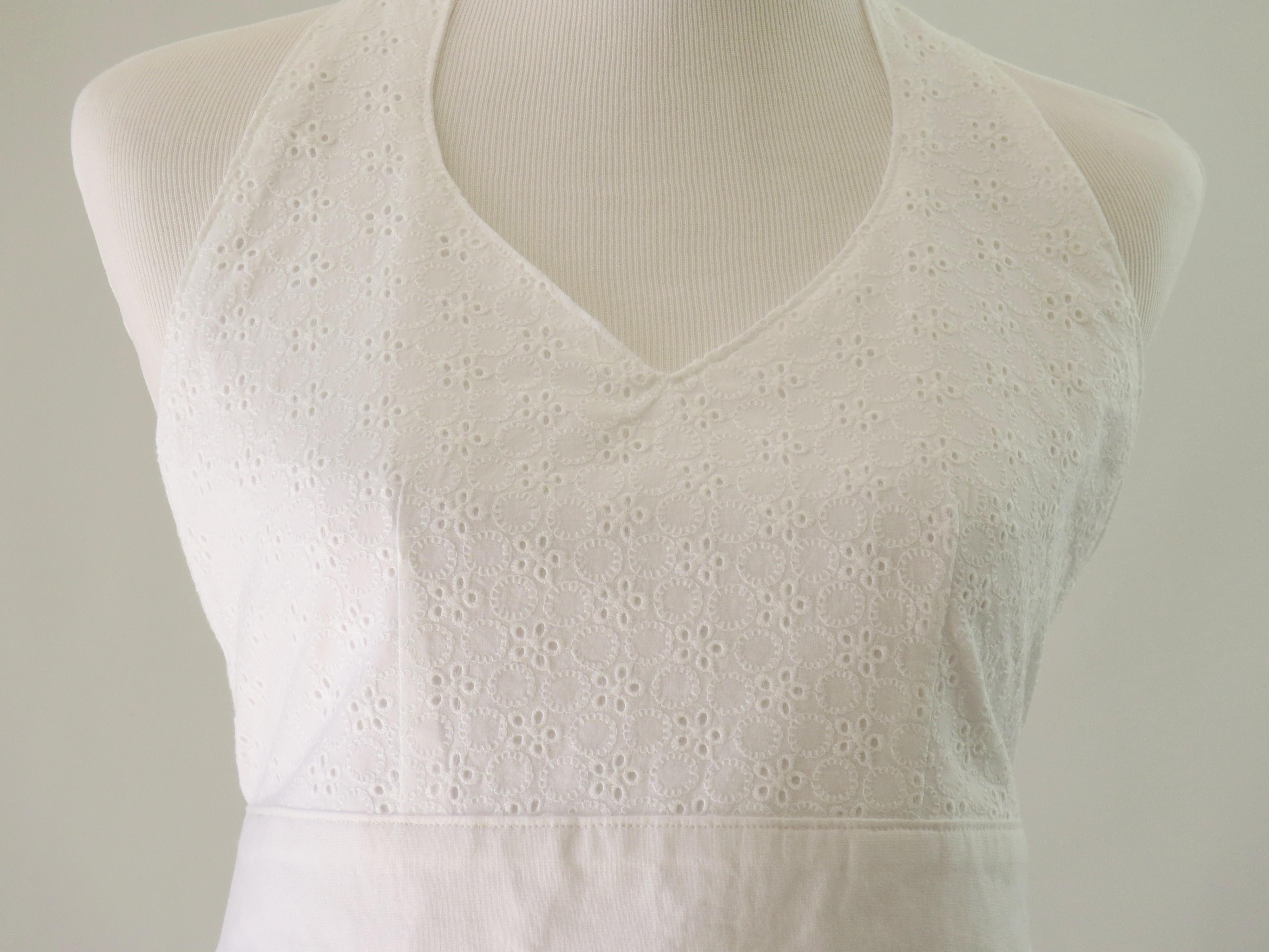 White eyelet apron -  Women S White Eyelet Retro Apron Fabric